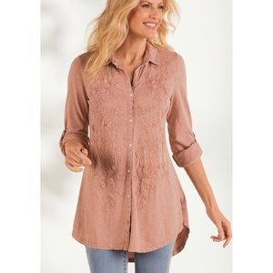 Soft Surroundings Gemma Tunic Top Embroidered XL